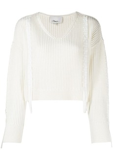 3.1 Phillip Lim Ribbon Weave Cropped Sweater