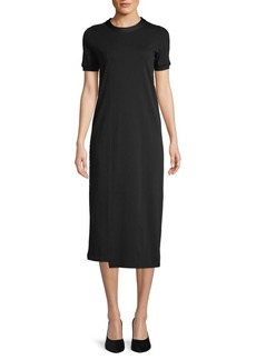3.1 Phillip Lim Roundneck Cotton-Blend Midi Dress