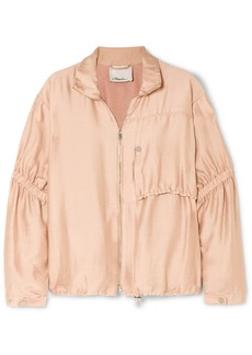 3.1 Phillip Lim Ruched Gauze Jacket