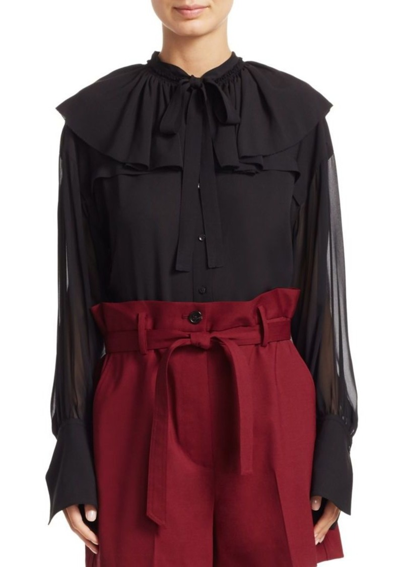 3.1 Phillip Lim Ruffle Collar Silk Shirt