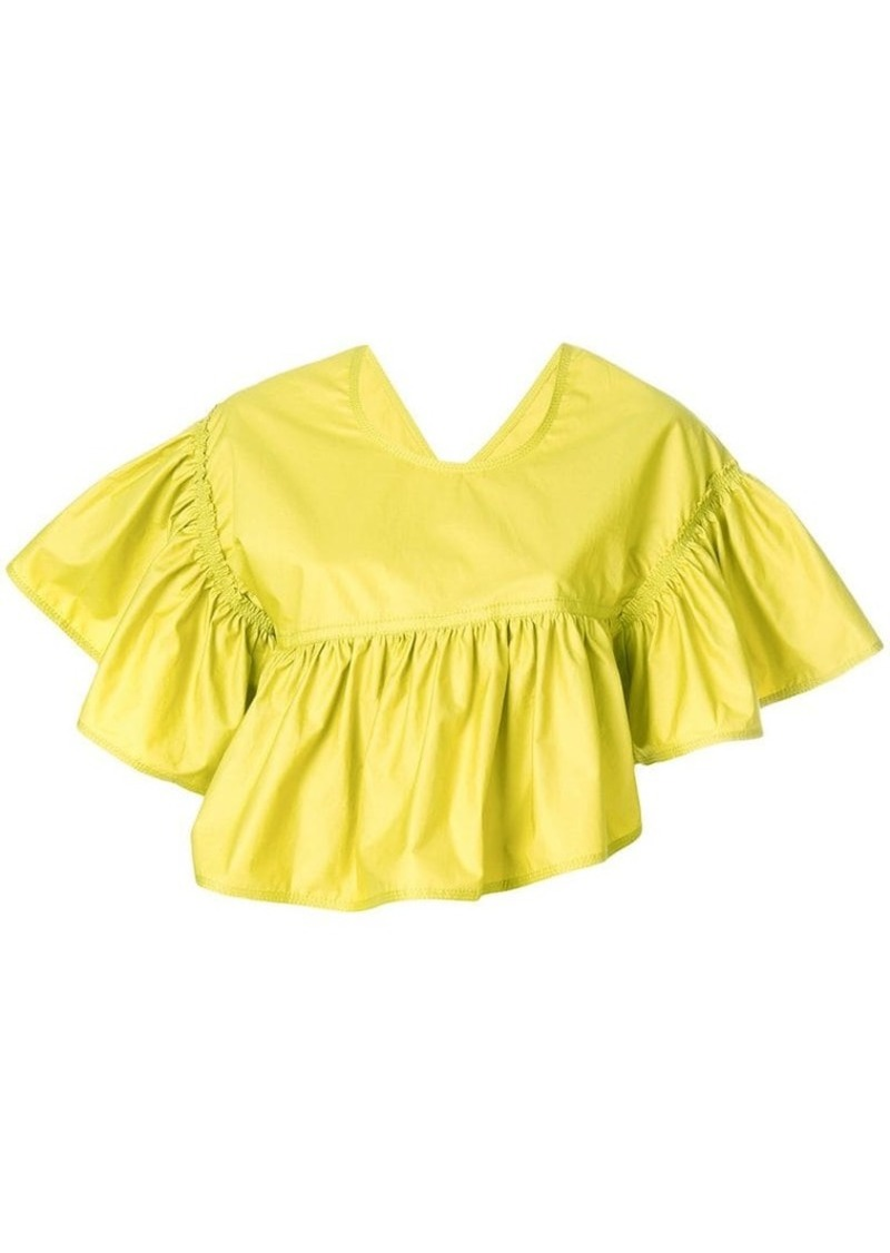 3.1 Phillip Lim ruffle flared cropped top