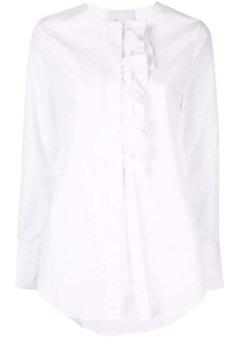 3.1 Phillip Lim Ruffle-Front Button-Down Shirt
