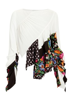 3.1 Phillip Lim Ruffle Layer Patchwork Blouse