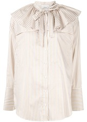 3.1 Phillip Lim ruffle neck stripe shirt