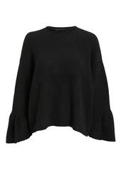3.1 Phillip Lim Ruffle Sleeve Black Sweater