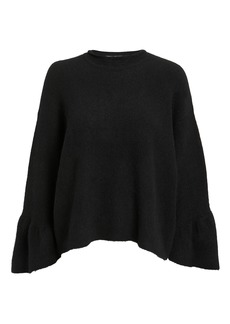 3.1 Phillip Lim Ruffle Sleeve Black Sweater