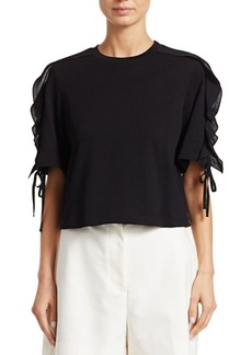 3.1 Phillip Lim Ruffle-Sleeve Cropped Tee
