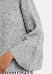 3.1 Phillip Lim Ruffle Sleeve Grey Sweater