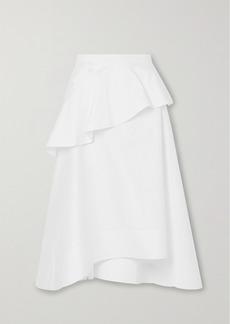 3.1 Phillip Lim Ruffled Cotton-blend Poplin Midi Skirt