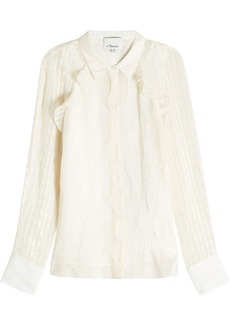 3.1 Phillip Lim Ruffled Silk-Blend Blouse