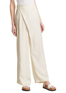 3.1 Phillip Lim Sateen Front High-Waist Wide Leg Pants