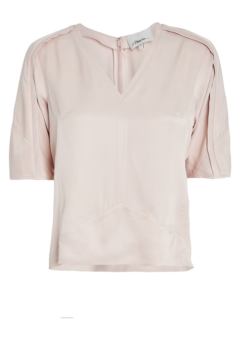 3.1 Phillip Lim Satin Balloon Sleeve Blouse