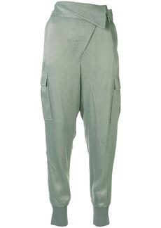 3.1 Phillip Lim Satin foldover waist trousers