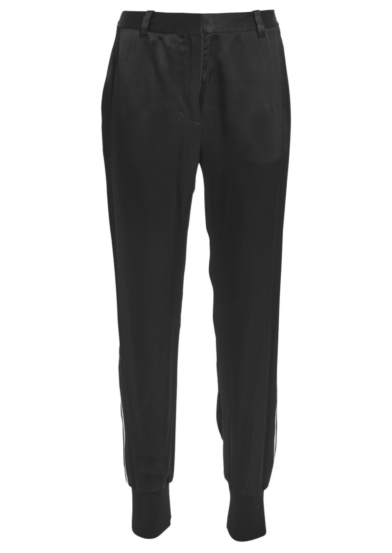 3.1 Phillip Lim Satin Tuxedo Stripe Joggers
