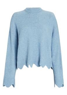 3.1 Phillip Lim Scalloped Crewneck Sweater