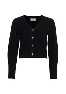 3.1 Phillip Lim Shank Buttons Wool Ribbed Cardigan