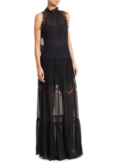 3.1 Phillip Lim Lace & Stretch Silk Gown