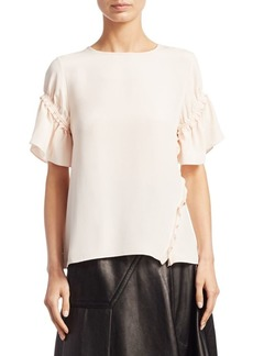 3.1 Phillip Lim Short-Sleeve Silk Top