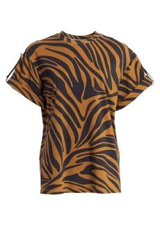 3.1 Phillip Lim Short-Sleeve Zebra Print Tee