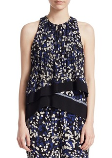 3.1 Phillip Lim Silk Chiffon Tank Top