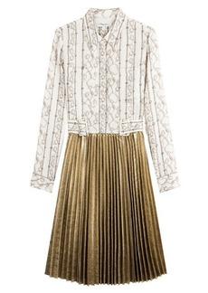 3.1 Phillip Lim Silk Dress with Pleated Skirt