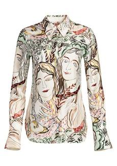 3.1 Phillip Lim Silk Twill Abstract Shirt