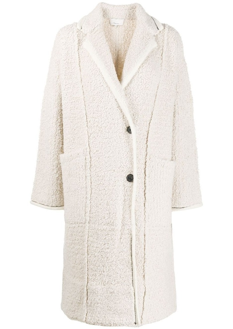 3.1 Phillip Lim single-breasted textured coat