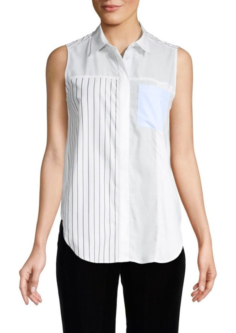 3.1 Phillip Lim Sleeveless Button-Down Shirt