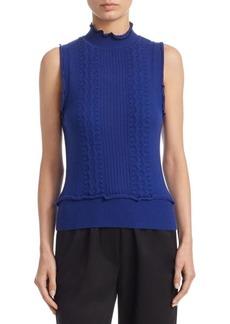 3.1 Phillip Lim Sleeveless Ruffle Cotton Sweater