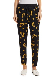 3.1 Phillip Lim Slim-Fit Cherry Print Silk Pants