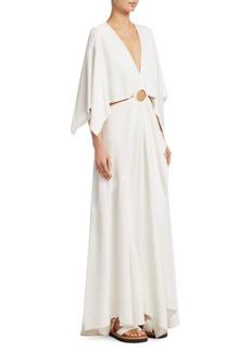 3.1 Phillip Lim Slub Sateen Crepe A-Line Maxi Dress