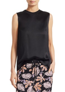 3.1 Phillip Lim Soft Crepe Twisted Tank Top