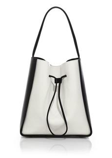 3.1 Phillip Lim Soleil Large Two-Tone Leather Drawstring Bucket Bag