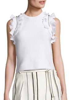 3.1 Phillip Lim Solid Ruffle Tank Top