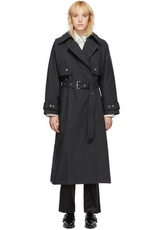 3.1 Phillip Lim SSENSE Exclusive Black Dolman Sleeve Trench Coat