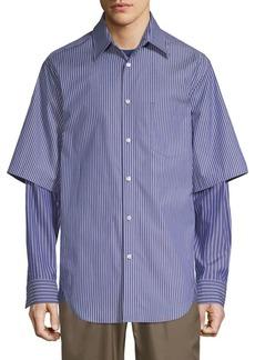 3.1 Phillip Lim Stripe Double-Layered Shirt
