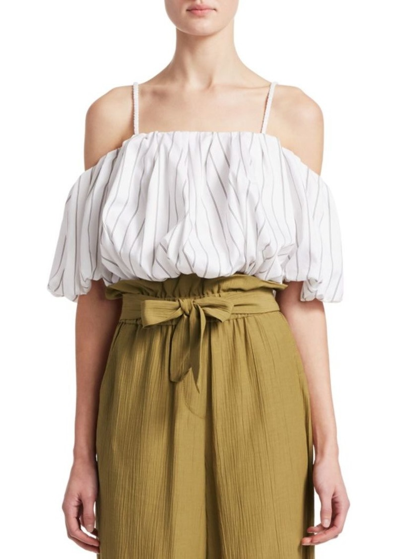 3.1 Phillip Lim Striped Cold-Shoulder Top
