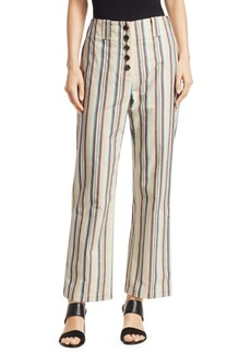 3.1 Phillip Lim Striped High-Rise Cotton Pants