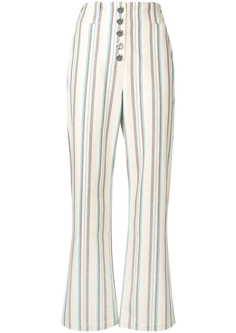 3.1 Phillip Lim Striped Kick Flare Pant