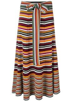 3.1 Phillip Lim striped rib-knit skirt