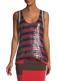 3.1 Phillip Lim Striped Sequin Tank Top