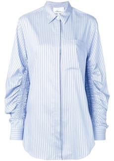 3.1 Phillip Lim Striped Shirt with Gathered Sleeves