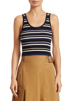3.1 Phillip Lim Striped Silk-Blend Tank