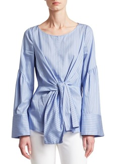 3.1 Phillip Lim Striped Tie-Front Blouse
