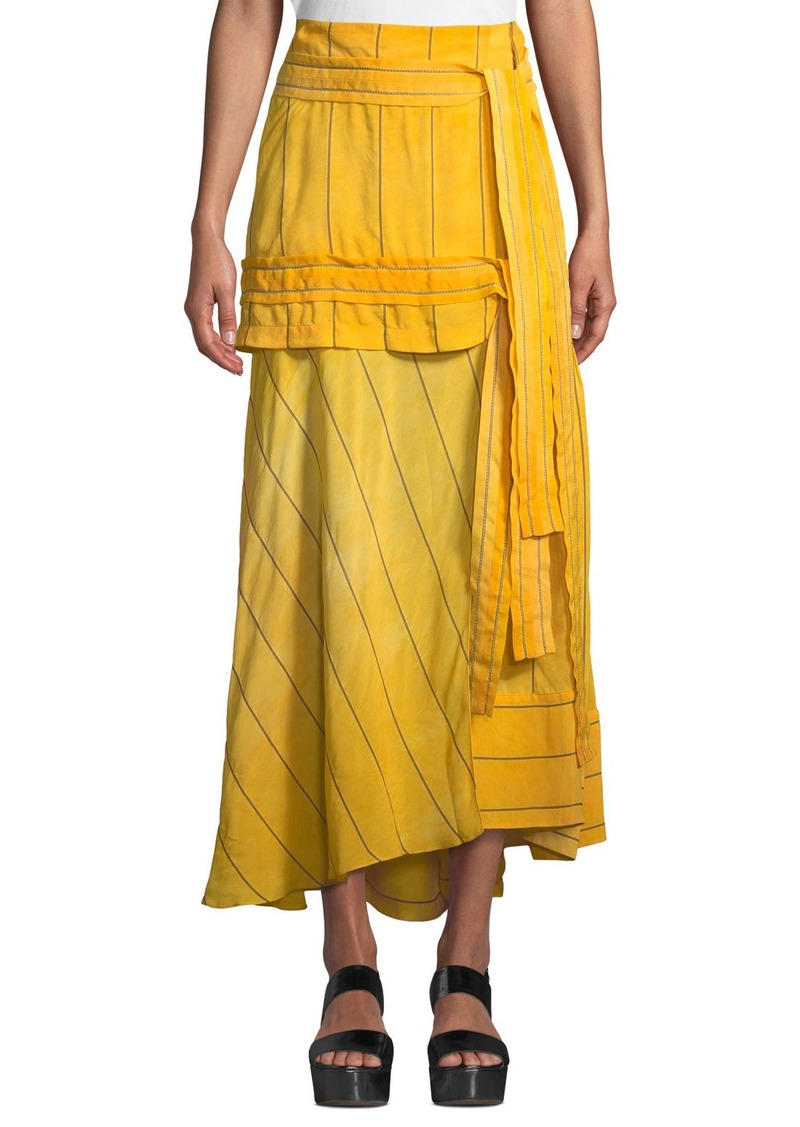 3.1 Phillip Lim Striped Tie-Front Maxi Skirt