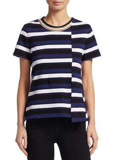 3.1 Phillip Lim Striped Twist-Back Top