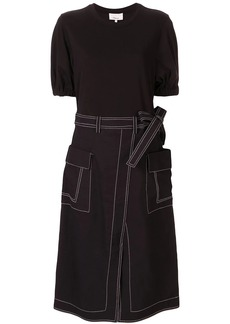 3.1 Phillip Lim T-Shirt Dress With Denim Skirt