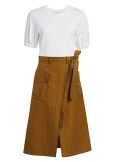 3.1 Phillip Lim Tee & Topstitch Skirt A-Line Dress