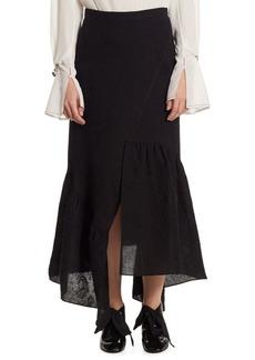 3.1 Phillip Lim Textured Ruffle-Hem A-Line Skirt