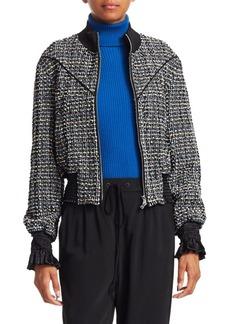 3.1 Phillip Lim Textured Tweed Track Jacket